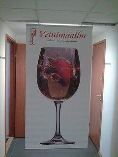 Ripsutettava Banneri Veinimaailm