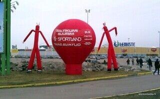 5 m jättipallo + SkyDancerit