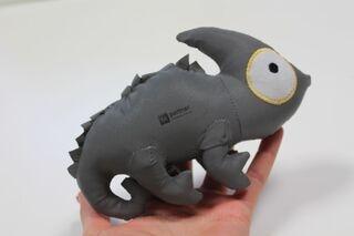 Reflective toy Iguana