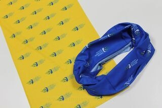 Tube scarf with logos