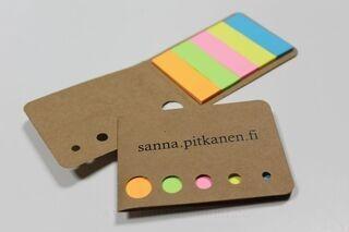 Adhesive notebook