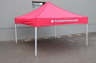 Punane logoga reklaamtelk