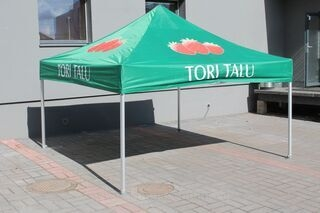 3x3m pop up tent with logo Tori Talu