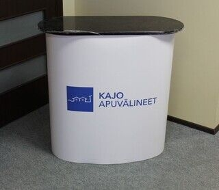 Väike esitluslaud ettevõtte logoga