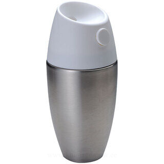 Stainless steel thermal flask in shaker design