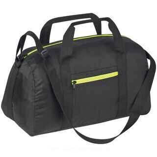 Sports bag with neon zipper