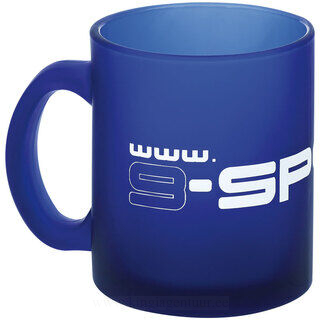 Coffee mug, transparent frosted