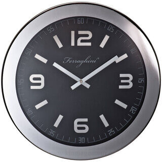 Ferraghini wall clock with aluminium frame