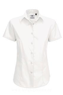 Ladies` Smart Short Sleeve Poplin Shirt