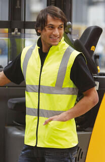 Hi-Vis Fleece Reversible Bodywarmer