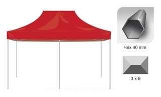 Pop up tent 3x6 Hex40