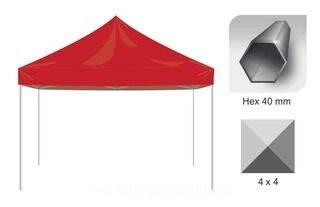 Pop Up telk 4x4m Hex40